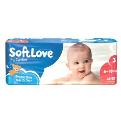 COUCHES T3 6-10KG X30 SOFTLOVE