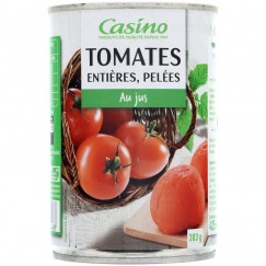 TOMATE ENTIERE PELEE 1/2 238G